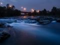 Il fiume Serio nei pressi di Grassobbio (Bg)