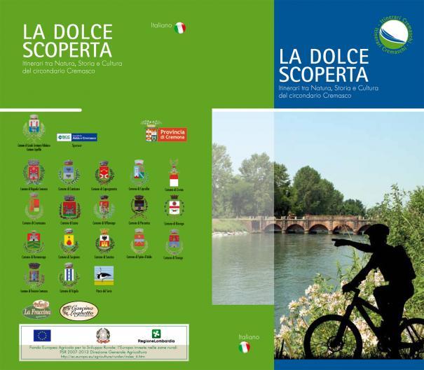 """Copertina volumetto itinerari cremaschi """"La dolce scoperta"""""""